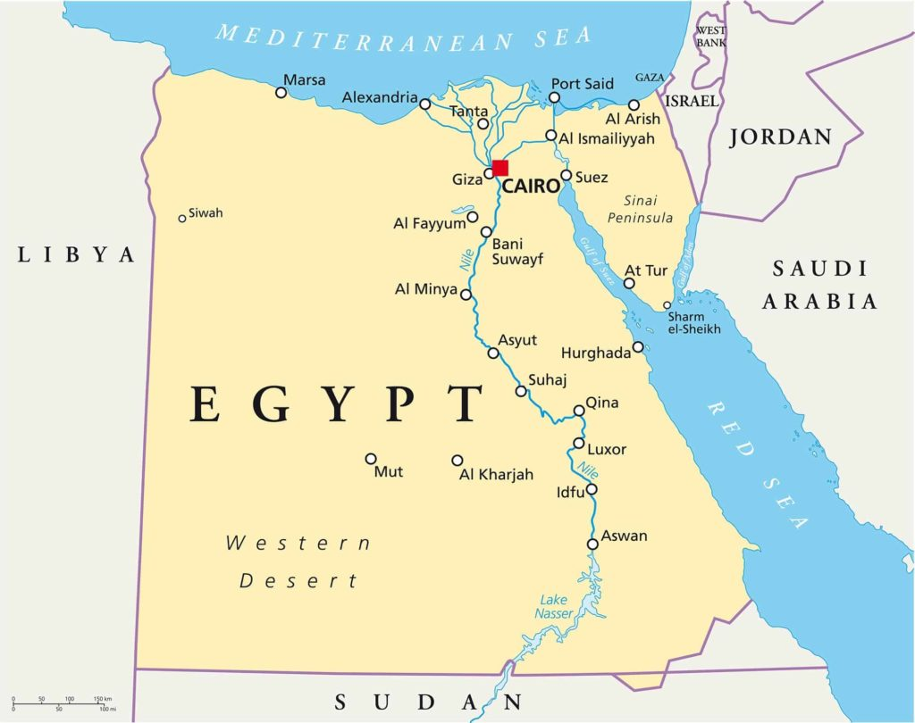 Map of Egypt - Diving